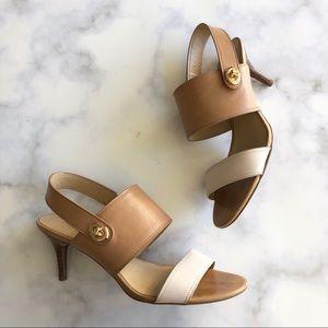 Coach Marla Slingback Leather Sandal